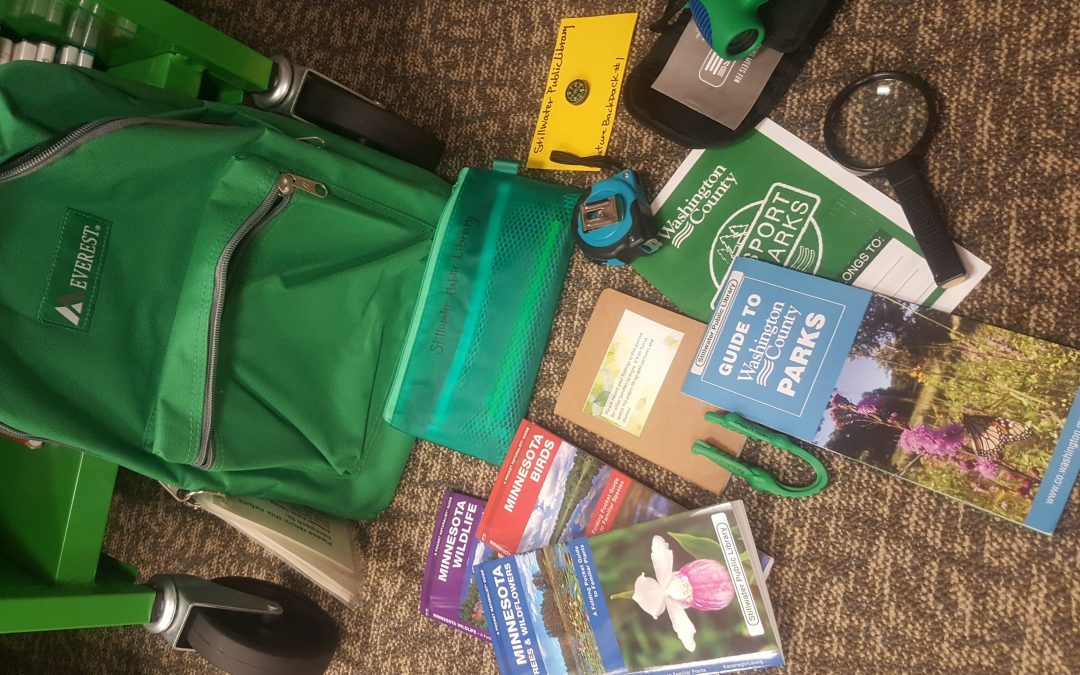 Nature Backpacks at the library!