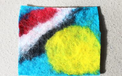Wet Felted Coasters