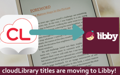 cloudLibrary titles are moving to OverDrive and Libby