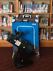 Orion Telescope with Rolling Container