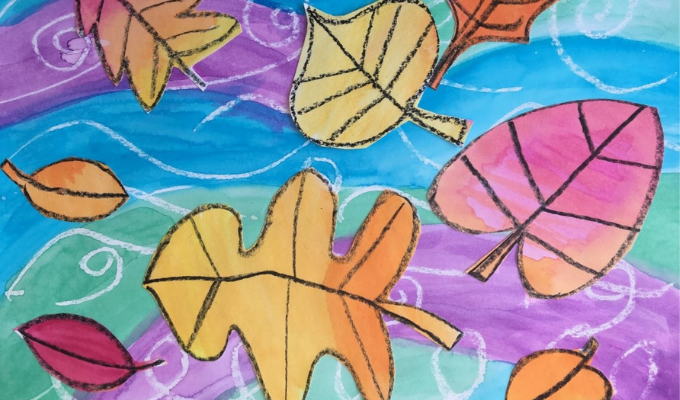 Fall Leaves on Water – Art for Kids (in person)
